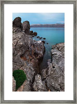 Blue, Green, Gray Framed Print