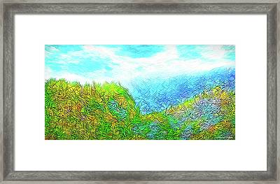 Blue Green Mountain Vista - Colorado Front Range View Framed Print