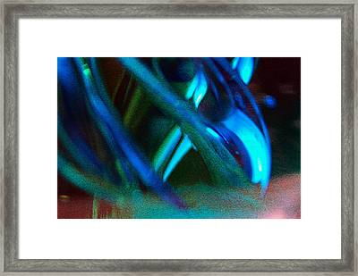 Blue Green Texture Framed Print by Don  Wright