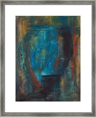 Blue Grotto Framed Print by Karen Day-Vath