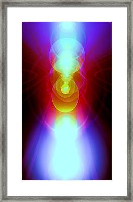 Blue Guardian-angel Framed Print by Ramon Labusch