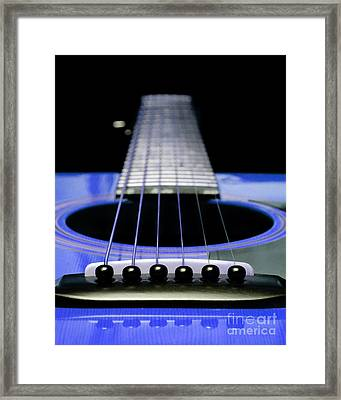 Blue Guitar 14 Framed Print by Andee Design
