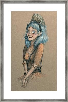 Blue Hair Summer  Framed Print