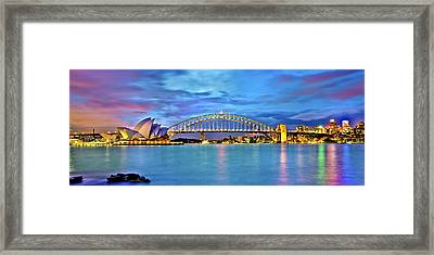 Blue Harbour Framed Print by Az Jackson