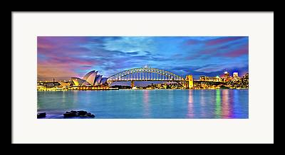 Sydney Skyline Framed Prints