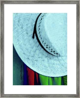 Blue Hat Painting Framed Print