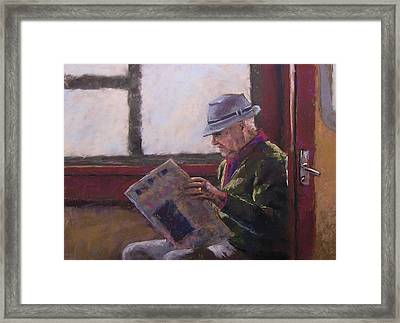 Blue Hat Retired Framed Print by Mary McInnis