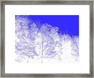 Blue Haze Framed Print by Marian Bell