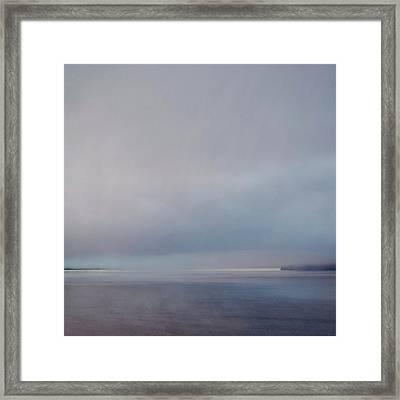 Framed Print featuring the photograph Blue Haze by Sally Banfill
