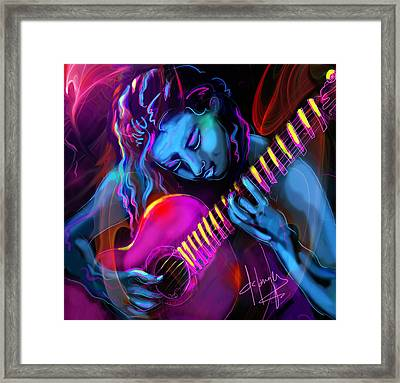 Blue Heart Framed Print