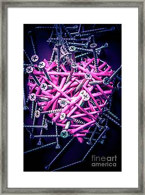 Blue Heart Turmoil  Framed Print