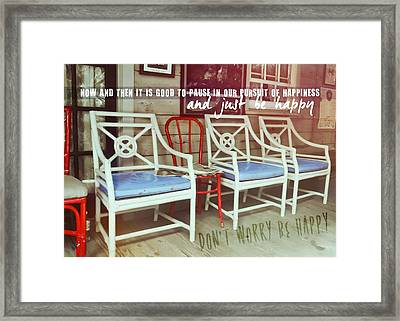 Blue Heaven Quote Framed Print by JAMART Photography