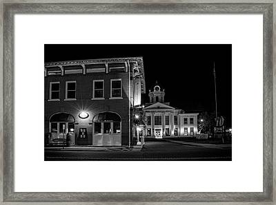 Blue Heritage In Black And White Framed Print