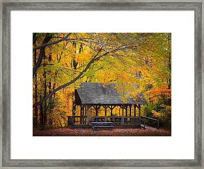 Blue Heron Park In The Fall 2 Framed Print