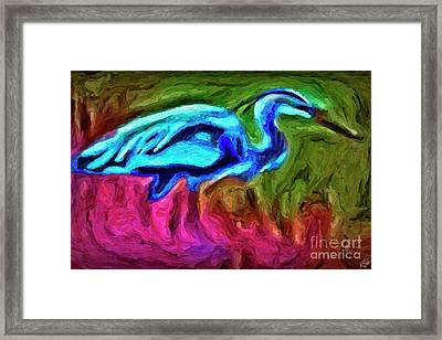 Framed Print featuring the photograph Blue Heron by Walt Foegelle