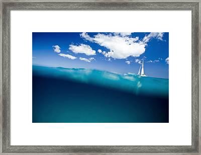 Blue Hill Framed Print by Sean Davey