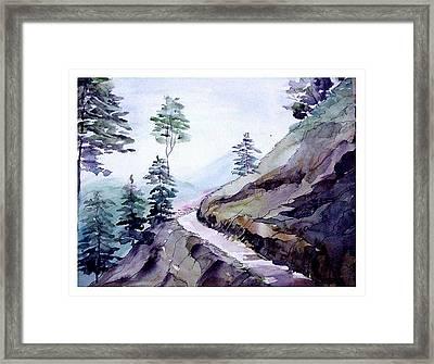 Blue Hills Framed Print by Anil Nene