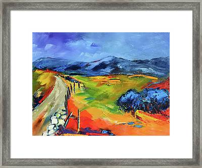 Blue Hills By Elise Palmigiani Framed Print by Elise Palmigiani