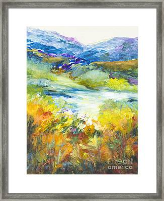 Blue Hills Framed Print by Glory Wood
