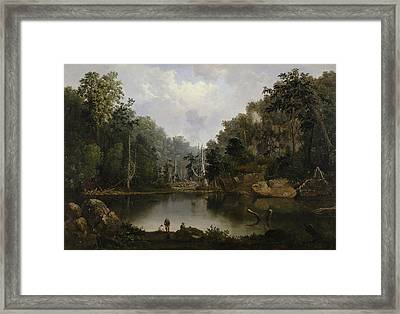 Blue Hole Flood Waters Little Miami River Framed Print by Robert Seldon Duncanson