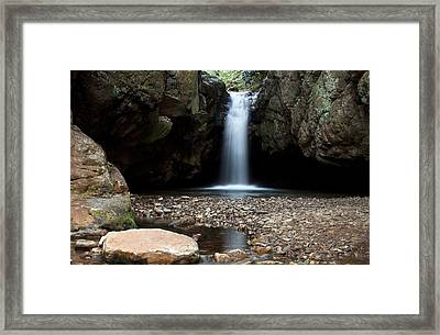 Framed Print featuring the photograph Blue Hole In Spring #2 by Jeff Severson