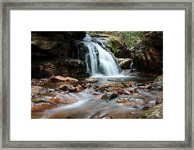 Framed Print featuring the photograph Blue Hole In Spring #3 by Jeff Severson