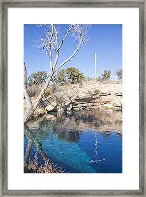 Blue Hole Framed Print by Ricky Dean
