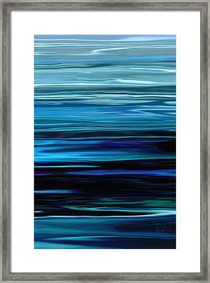 Blue Horrizon Framed Print