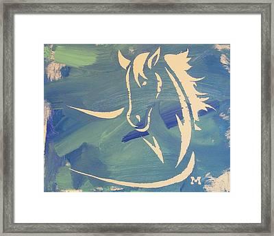 Blue Horse Sky Framed Print