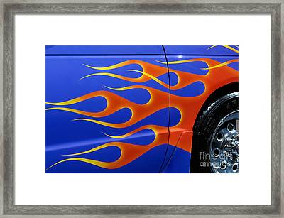 Blue Hot Rod Closeup Framed Print by Oleksiy Maksymenko
