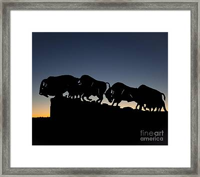 Blue Hour 24x20  Framed Print by Melany Sarafis