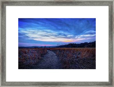 Blue Hour After Sunset At Retzer Nature Center Framed Print