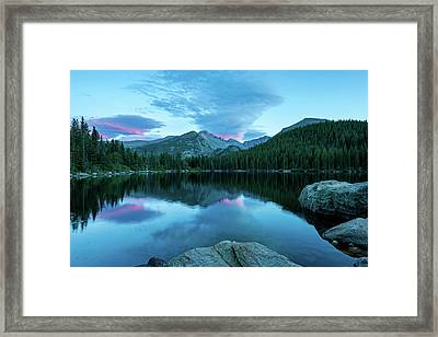Blue Hour At Bear Lake-thomasschoeller.photography Framed Print