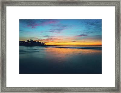 Blue Hour At Carmel, Ca Beach Framed Print