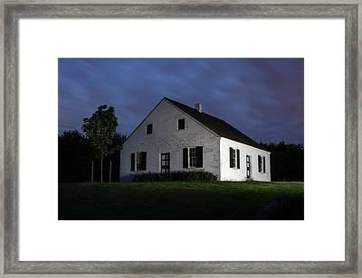 Blue Hour At Dunker Church Framed Print by Sharon Horn
