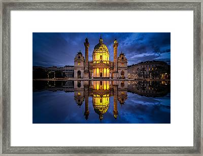 Blue Hour At Karlskirche Framed Print