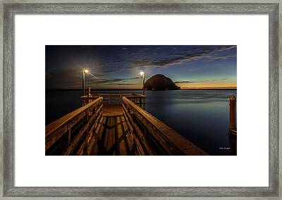 Blue Hour At Morro Bay Framed Print