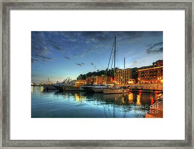 Blue Hour At Port Nice 2.0 Framed Print by Yhun Suarez
