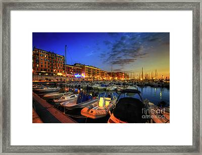 Blue Hour At Port Nice 1.0 Framed Print by Yhun Suarez