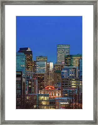 Blue Hour - Denver, Colorado Framed Print