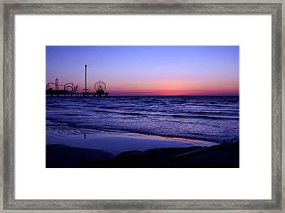 Blue Hour In Galveston Framed Print