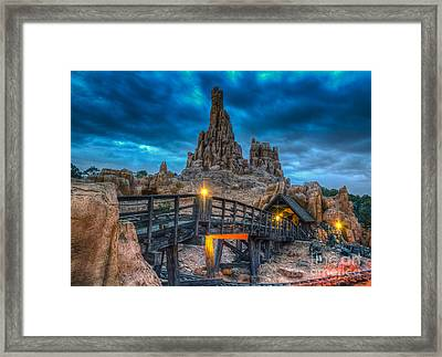 Blue Hour Over Big Thunder Mountain Framed Print