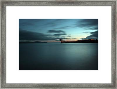 Blue Hour Salthill Framed Print