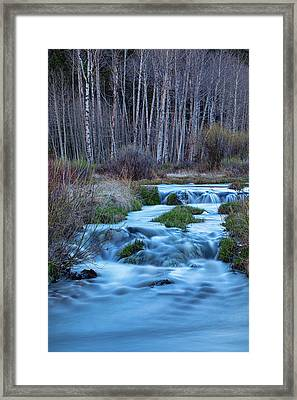 Blue Hour Streaming Framed Print by James BO Insogna