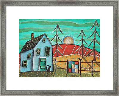 Blue House 1 Framed Print