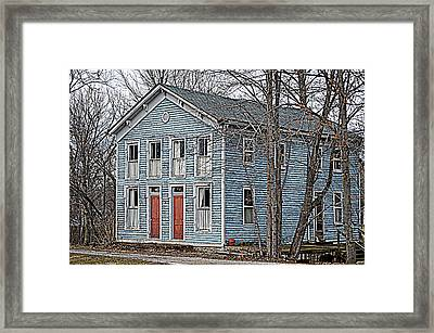 Blue House On The Canal Framed Print