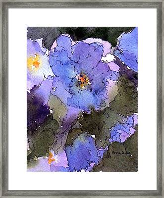 Blue Hyacinth Framed Print by Anne Duke