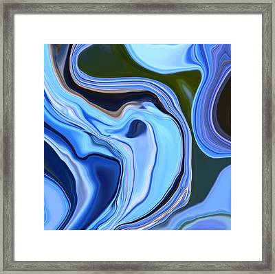 Blue Hydrangea Abstract  Framed Print by Linnea Tober