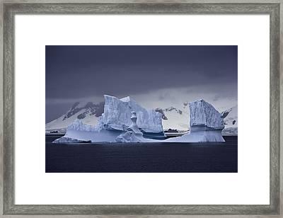 Blue Ice Antarctica Framed Print