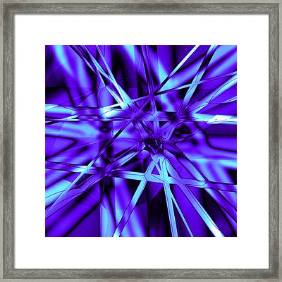 Blue Ice Framed Print by Carl Perry